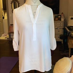 Emma & Olivia white casual or dressy blouse Small
